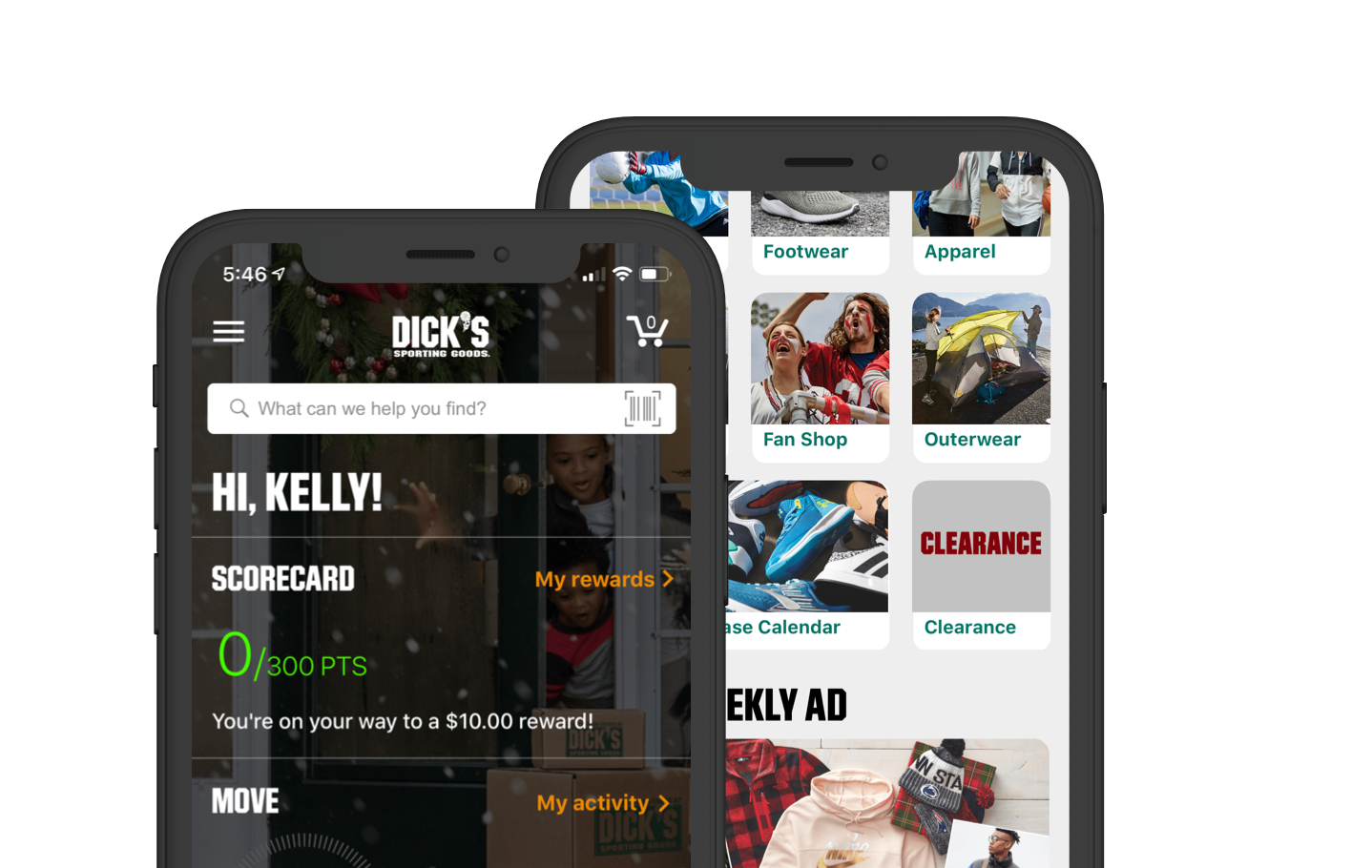 Dick's Sporting Goods - Mobile app design