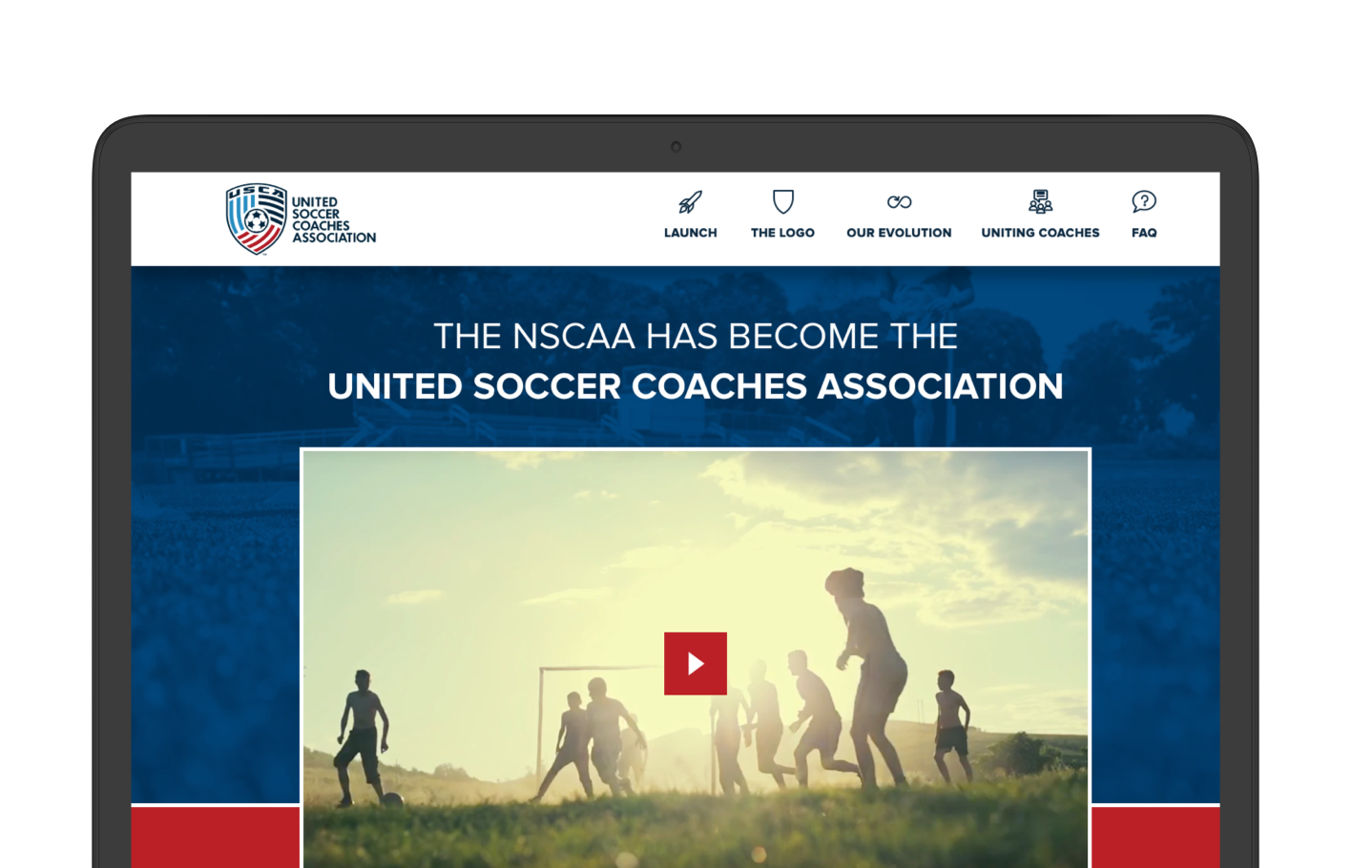 United Soccer Coaches - Website redesign